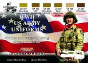 WW 2 Us combat and fatigue clothing set 1 lifecolor maali