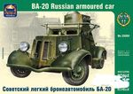 Russian armoured car BA-20  1/35   panssariauto