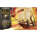 Captain Henry Morgan merirosvolaiva Jolly Roger  pirate ship 1/130  koottava pienoismalli