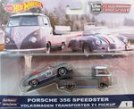Porsche 356 ja Vw transporter T1 pick up   1/64 hotwheels